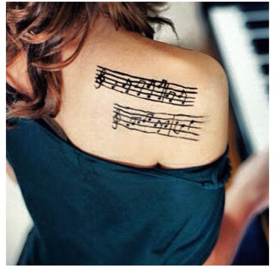 Sheet Music Tattoo By Amateurmusician Befunky Photo Gallery