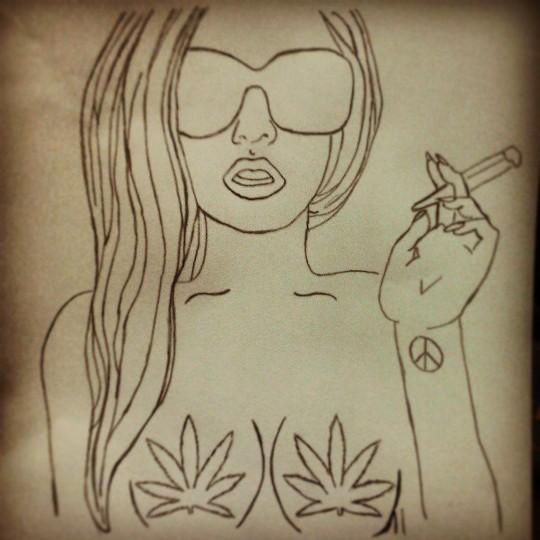 meu desenho girl back desenho tumblr by yaskara alves 1 s