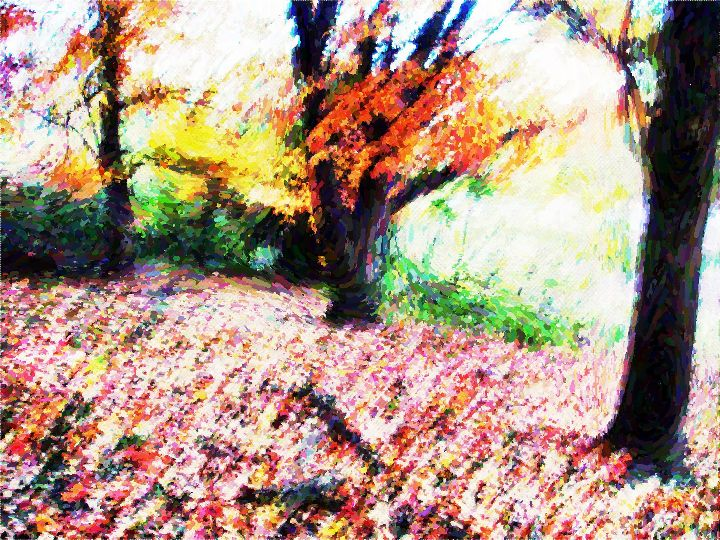 Trees Pointillism